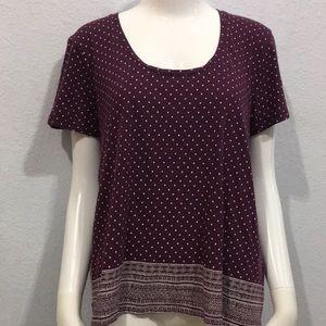 Lucky Brand Purple Bohemian Soft T-Shirt Size XL